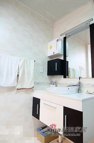 简约 二居 卫生间图片来自用户2557979841在清新范儿8万搞定90平两居室83的分享