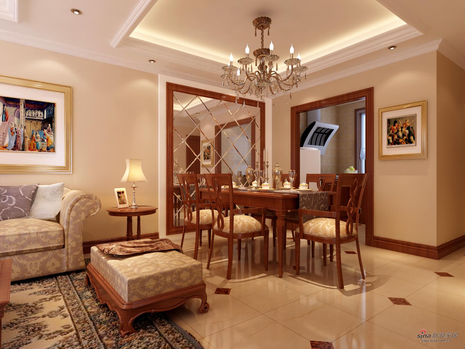 混搭 别墅 餐厅图片来自用户1907655435在永定河孔雀城210平简约欧式设计风格10的分享