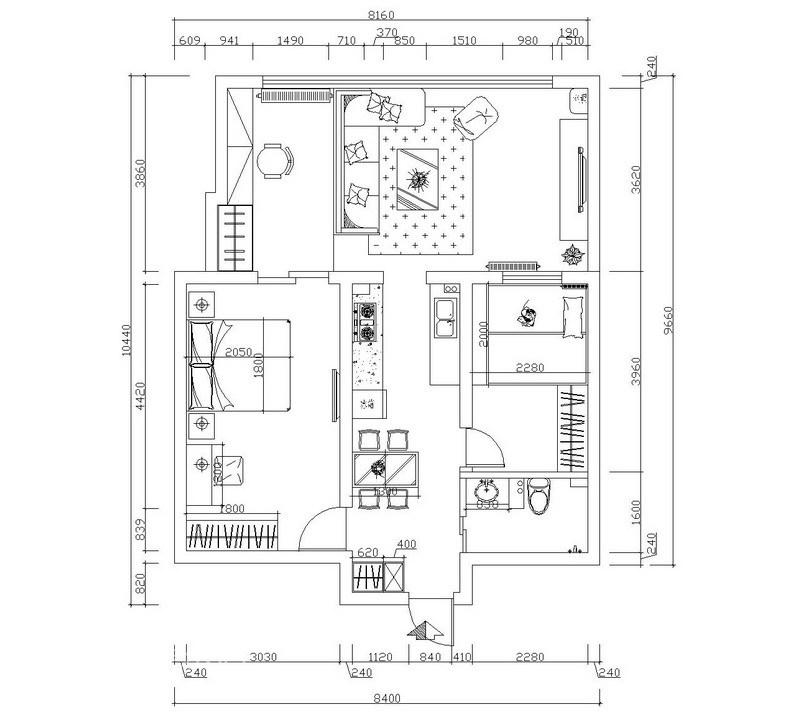简约 二居 客厅图片来自用户2557010253在旧房翻新:时尚前卫小两居98的分享