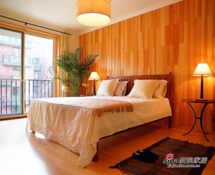 简约 三居 卧室图片来自用户2738813661在8万装135平橙色简约3居室65的分享