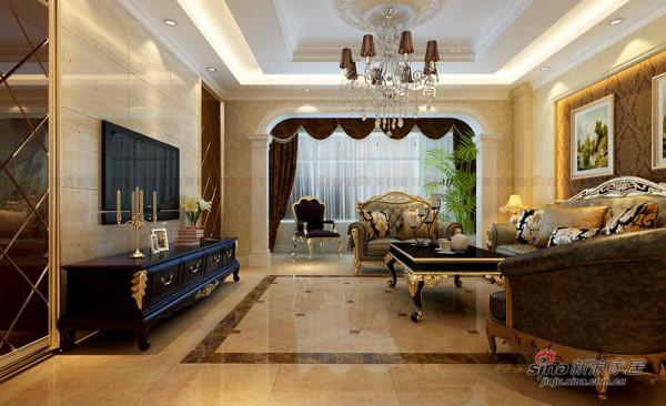 179平大户型复式欧式中式混搭 客厅设计