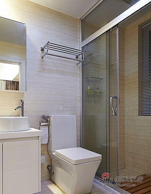 简约 三居 卫生间图片来自用户2738829145在9万装80平3室现代简约风格家85的分享