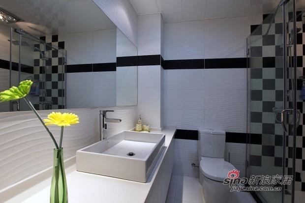 简约 二居 卫生间图片来自用户2737950087在6万装75平米现代简约低调家77的分享