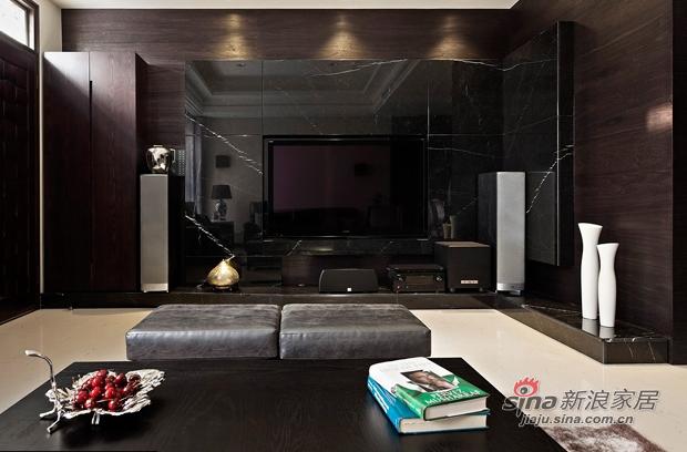 简约 三居 客厅图片来自佰辰生活装饰在8万打造107平黑白层次现代简约家26的分享