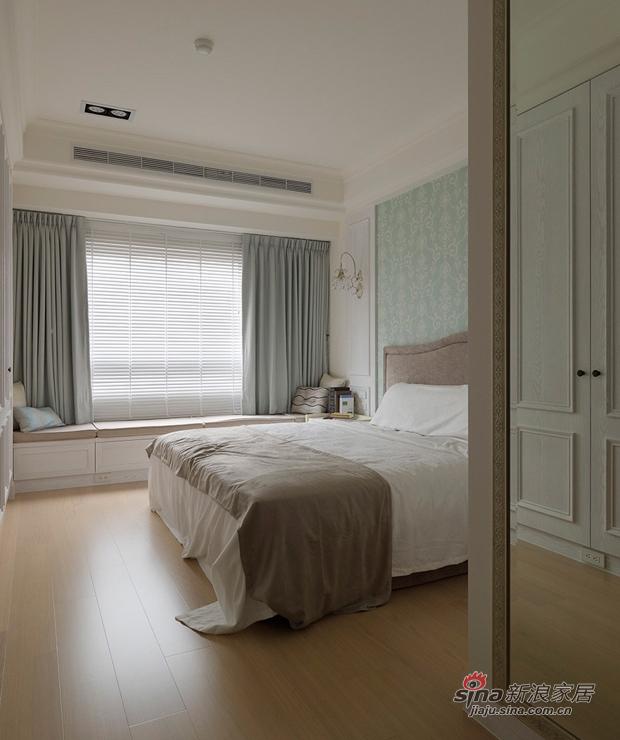 美式 三居 卧室图片来自佰辰生活装饰在9万打造170平纯白美式大气家64的分享
