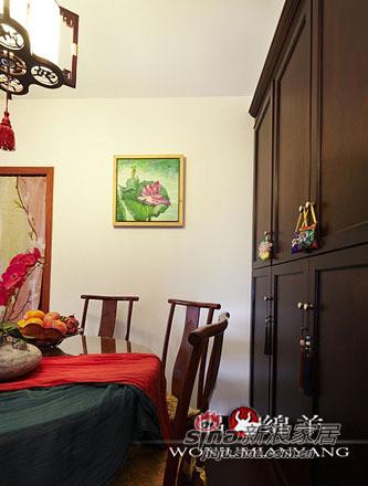 中式 三居 餐厅图片来自用户1907659705在4.8万打造67平香艳中式家47的分享