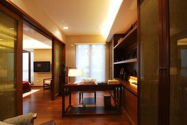 中式 三居 书房图片来自用户1907659705在12.6万铸造150平新中式三居室爱家81的分享