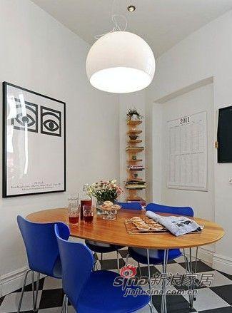 北欧 二居 餐厅图片来自用户1903515612在夫妻96平纳维亚风格三居室51的分享