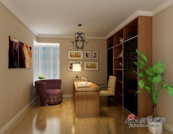 简约 三居 书房图片来自用户2738813661在7.8万铸造现代简约130平三居室爱家72的分享