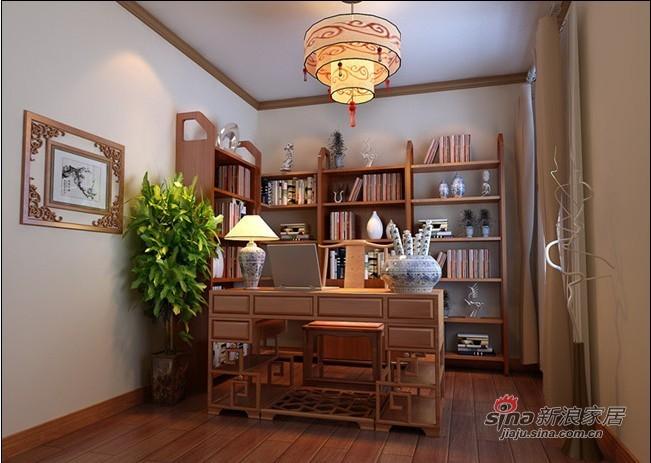 中式 三居 书房图片来自用户1907658205在115平3居室新中式舒适爱家35的分享