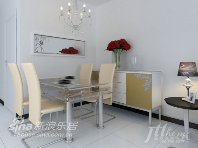 简约 三居 餐厅图片来自用户2737759857在雅致风尚的典型的现代简约风格87的分享