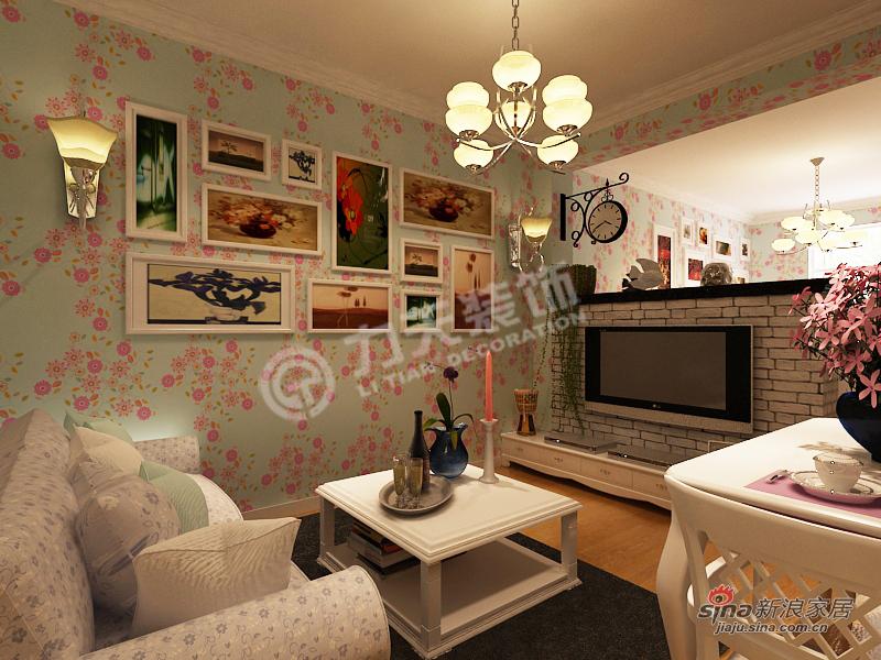 田园 二居 客厅图片来自阳光力天装饰在团结东里--田园风格16的分享