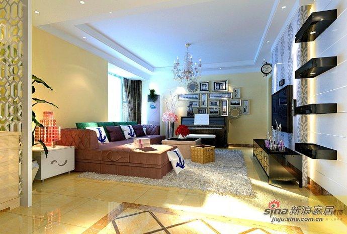 简约 三居 客厅图片来自用户2745807237在8万装122平现代简约雅居30的分享