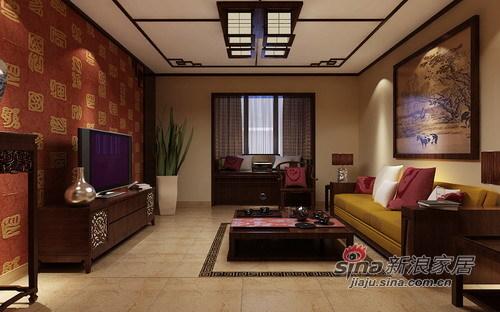 中式 三居 客厅图片来自用户1907662981在10万创意中韵生活美居49的分享