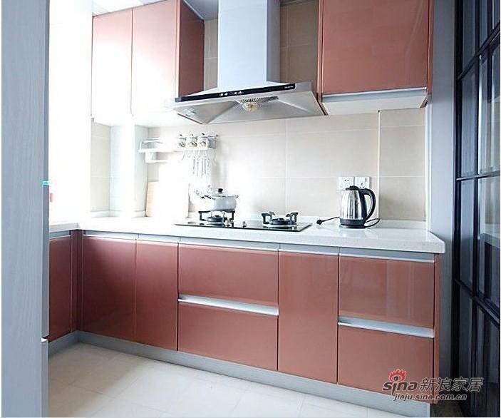 简约 二居 厨房图片来自用户2559456651在100平都市白领时尚华丽两居室98的分享