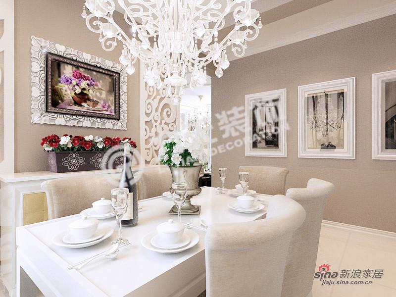 欧式 三居 餐厅图片来自阳光力天装饰在北宁湾-三室两厅一卫-欧式风格80的分享