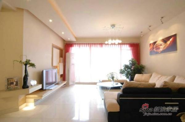 简约 三居 客厅图片来自用户2737786973在10万打造96平现代简约婚房34的分享