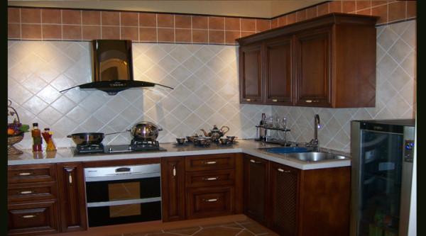 现代简约风格--厨房效果图