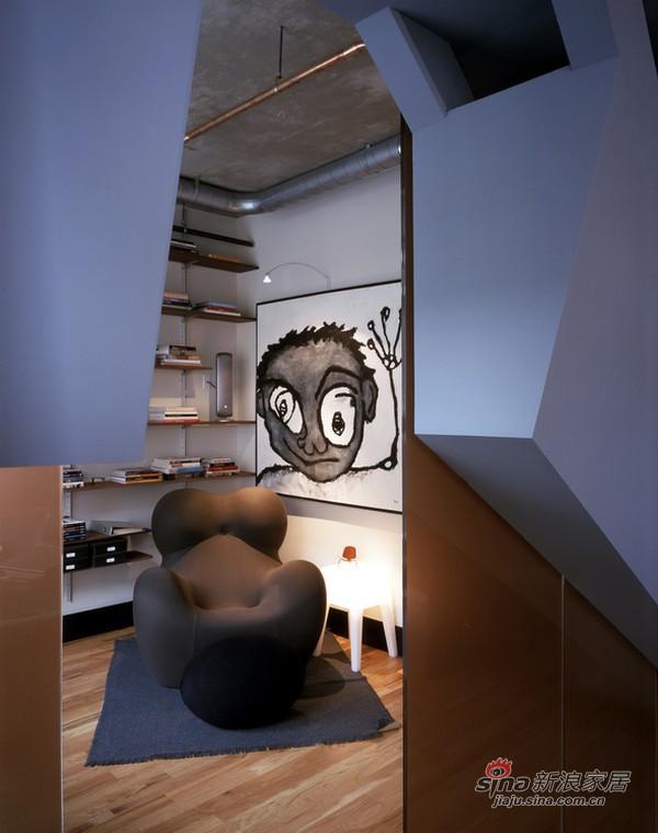 简约 复式 书房图片来自用户2738820801在美国Dynamic现代公寓设计57的分享