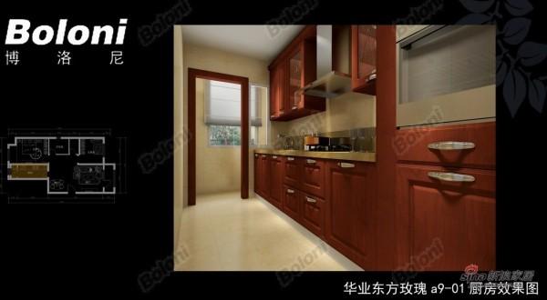 华业东方玫瑰a9-01厨房0