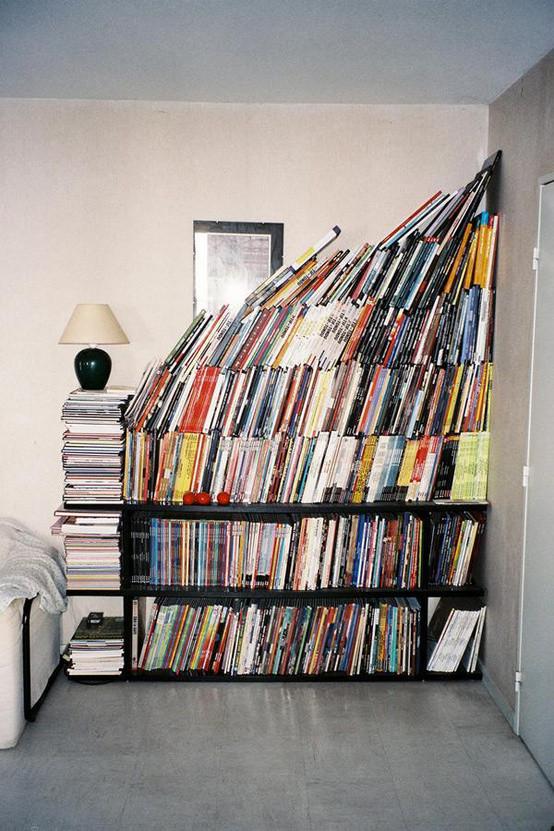 [创意旧书利用 多方面的旧书利用创意] 创意旧书再利用,成堆的旧书旧杂志看完了也舍不得扔,那就用它们打造一个文艺又别致的家居空间吧~