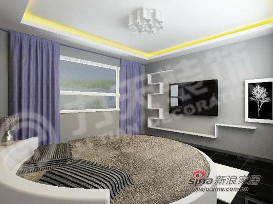 简约 二居 卧室图片来自阳光力天装饰在75平米时尚两居室98的分享