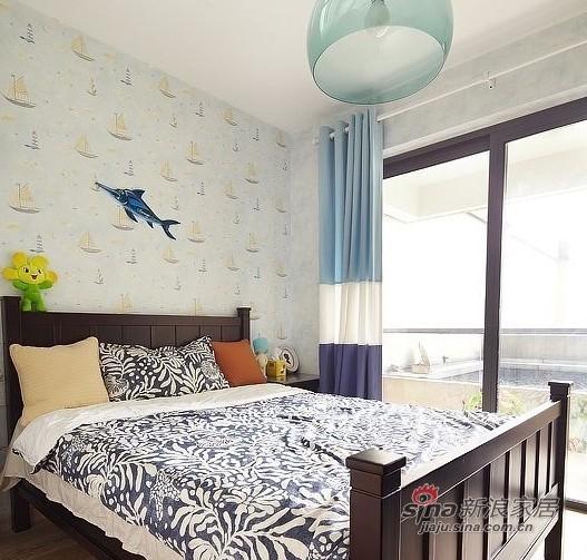 美式 四居 卧室图片来自用户1907686233在硬装12W装美式简约150平豪宅33的分享