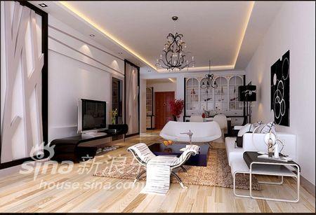 简约 三居 客厅图片来自用户2557979841在黑白简约酷感家装99的分享