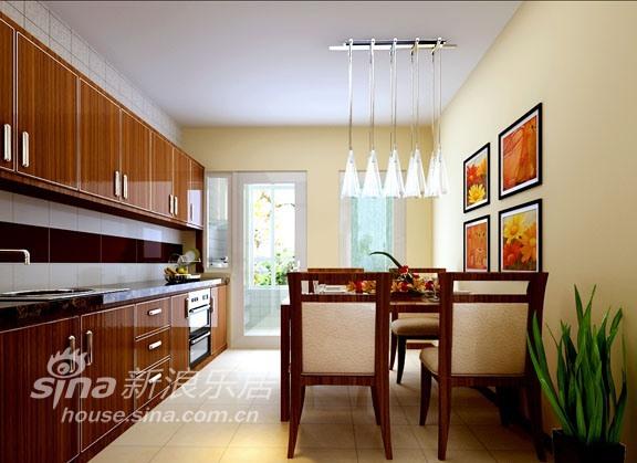 简约 三居 餐厅图片来自用户2737786973在金泰先锋3居室现代简约73的分享