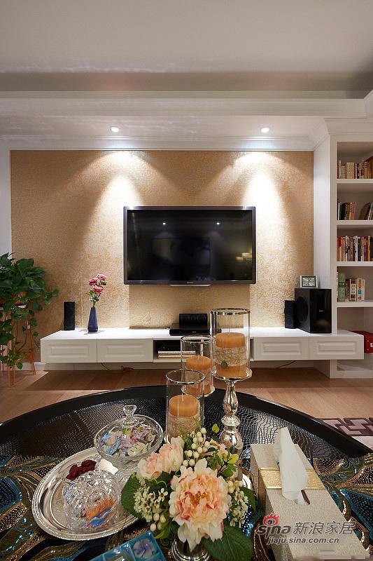 中式 三居 客厅图片来自佰辰生活装饰在9万打造150平新古典中式家60的分享