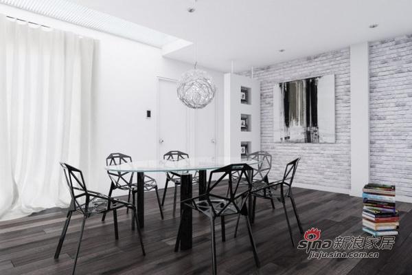 北欧 其他 餐厅图片来自用户1903515612在150平现代时尚黑白家居设计44的分享