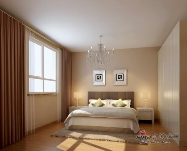 100平米上林溪简欧风格二居卧室效果图