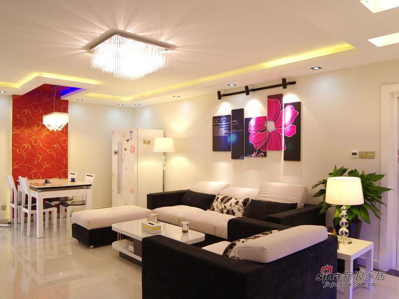 简约 三居 客厅图片来自用户2737786973在实景展示现代简约范儿48的分享