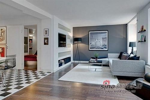 小公寓大空间 冷静的配色74平完美设计