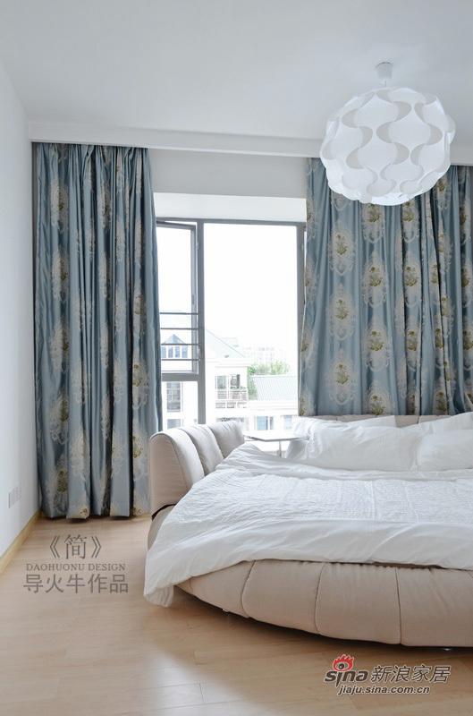 简约 三居 卧室图片来自用户2737735823在极致简约80平实景有范三居32的分享