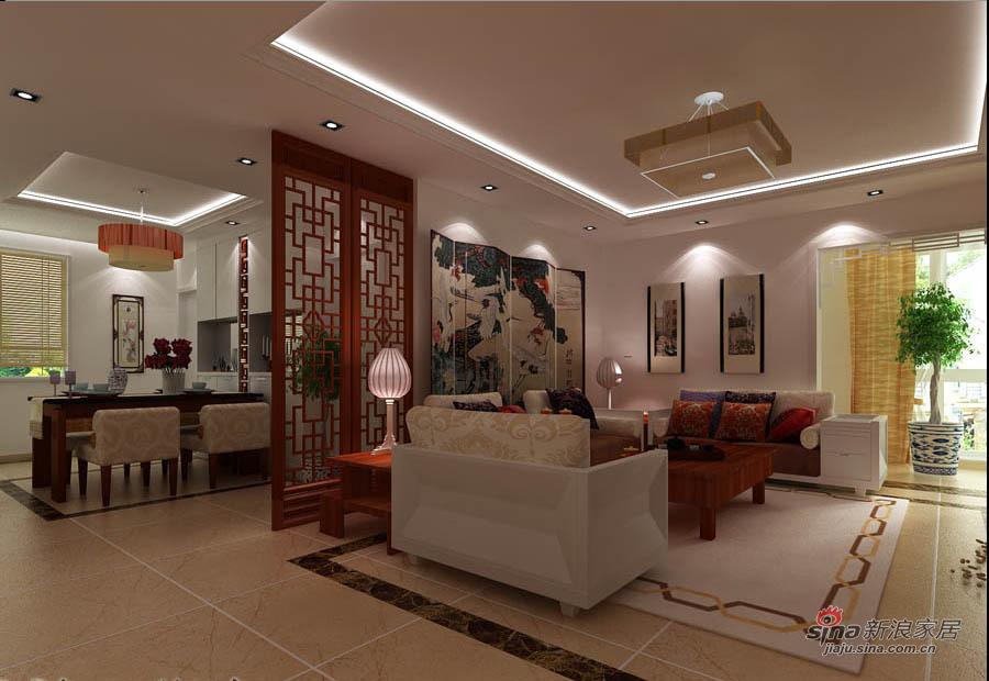 中式 三居 客厅图片来自用户1907658205在传统与现代气质3居中式家87的分享