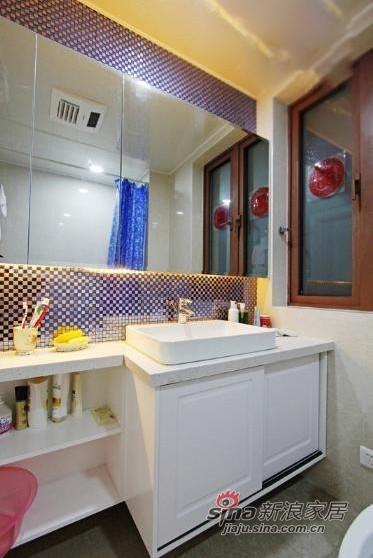 简约 二居 卫生间图片来自用户2738093703在6万巧装现代简约时尚二居室27的分享
