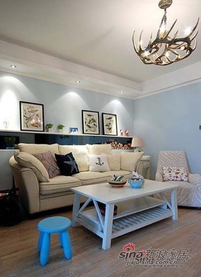 地中海 二居 客厅图片来自用户2756243717在省钱小夫妻7万装修89平方清爽2居室81的分享