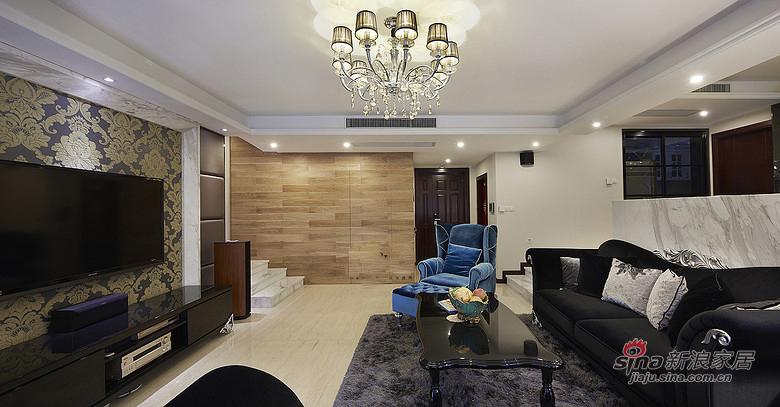 混搭 三居 客厅图片来自装修微日记在【高清】165平后现代古典混搭时尚3居室17的分享