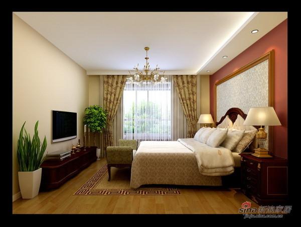 润枫锦尚欧式田园卧室设计