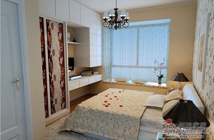 简约 一居 卧室图片来自用户2738093703在6.6万元装112平米的简约田园风32的分享
