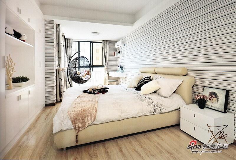 简约 二居 卧室图片来自用户2556216825在2万打造76平简约唯美小2居10的分享