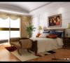 卧室温暖的色彩、开阔的视野