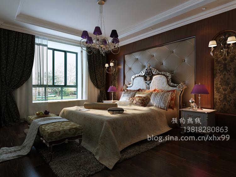 欧式 二居 卧室图片来自用户2746889121在简欧风格125平低调奢华99的分享