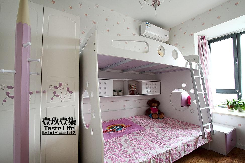 混搭 三居 儿童房图片来自用户1907655435在【高清】半包13.5万装152平睿简混搭40的分享