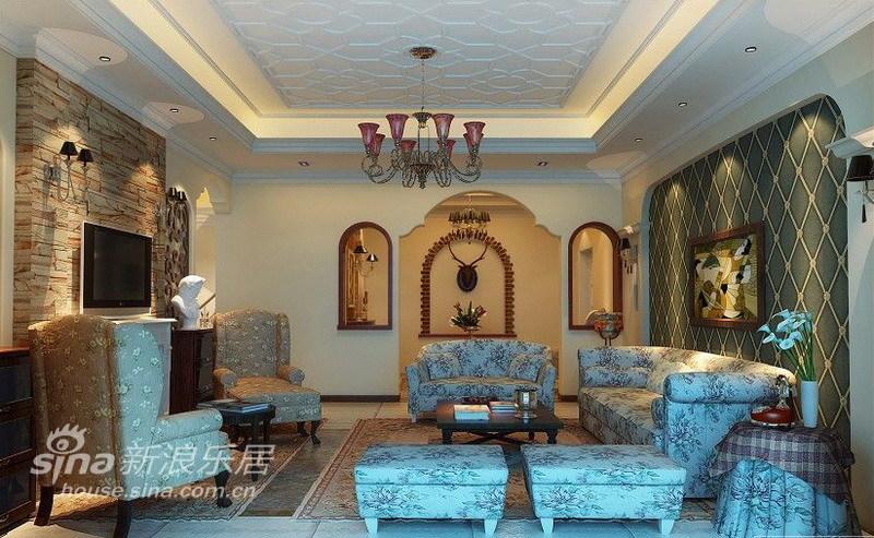欧式 三居 客厅图片来自用户2745758987在102平神形俱备古典欧式风格81的分享