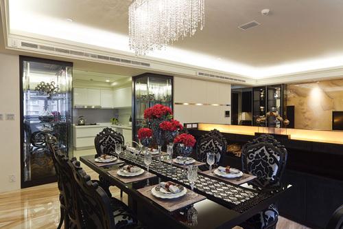 欧式 三居 餐厅图片来自用户2746948411在11.3万铸造简欧奢华三居室35的分享