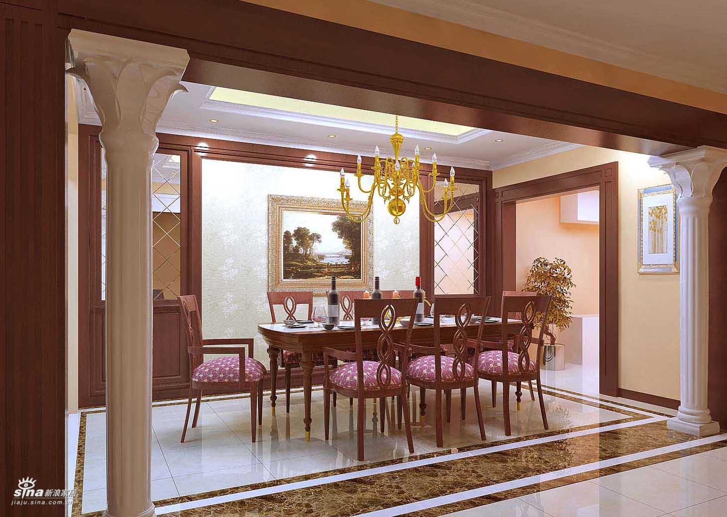 欧式 三居 餐厅图片来自用户2745758987在轻舟总设计部30的分享