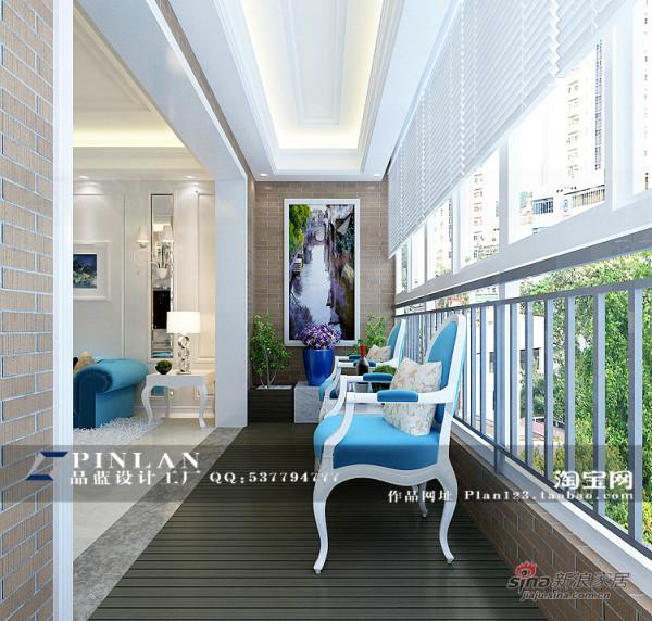 简欧风格休闲阳台设计 阳台花池设计