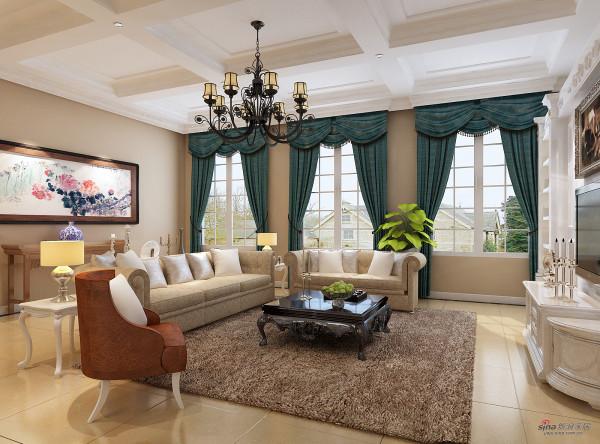 中海尚湖世家别墅客厅设计图